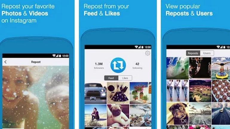 Repost instagram app